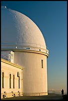 Dome housing the refractive telescope, Lick obervatory. San Jose, California, USA ( color)