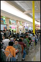 Vietnamese people in the foot court of the Grand Century mall. San Jose, California, USA