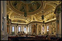 Interior of Cathedral Saint Joseph. San Jose, California, USA ( color)