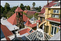 Rooftops. Winchester Mystery House, San Jose, California, USA ( color)
