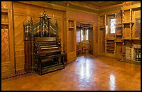 Ballroom and organ. Winchester Mystery House, San Jose, California, USA ( color)