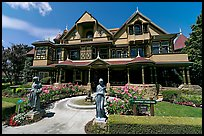 Main facade. Winchester Mystery House, San Jose, California, USA ( color)