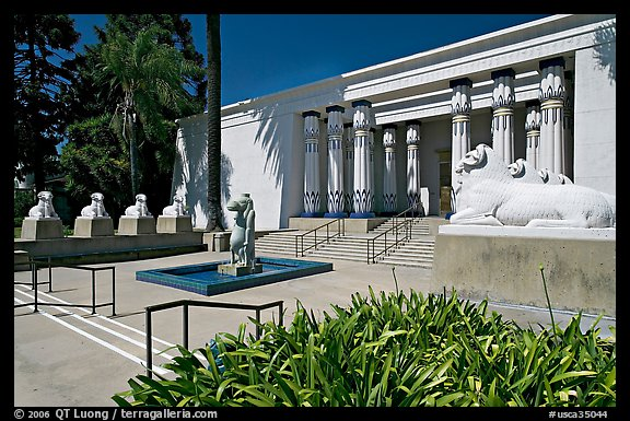 Egyptian Museum at Rosicrucian Park. San Jose, California, USA (color)
