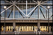 Facade of HP pavilion with San Jose sign. San Jose, California, USA ( color)