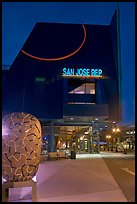 San Jose Repertory Theater at dusk. San Jose, California, USA (color)