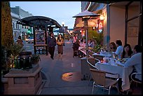 Outdoor dining, Castro Street, Mountain View. California, USA (color)