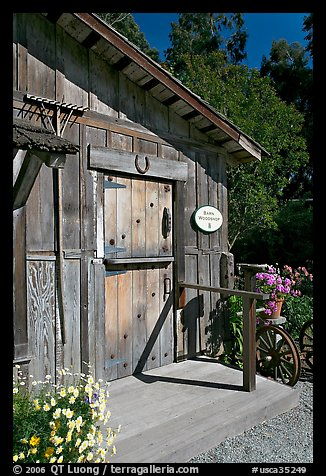 Barn-style shop, Allied Arts Guild. Menlo Park,  California, USA (color)