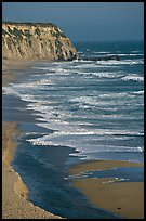 Waves and cliffs, Scott Creek Beach. California, USA ( color)