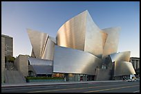 Walt Disney Concert Hall, designed by Frank Gehry, late afternoon. Los Angeles, California, USA