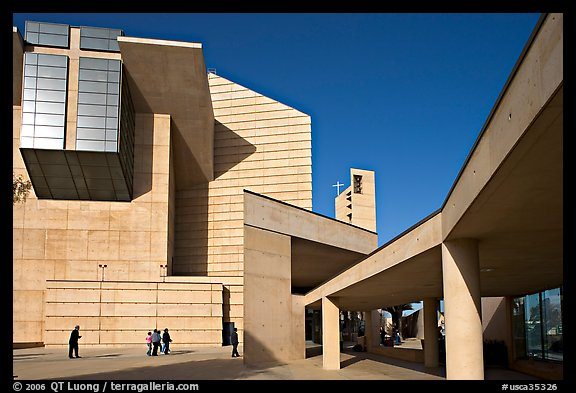 Cathedral of our Lady of the Angels, designed by Jose Rafael Moneo. Los Angeles, California, USA (color)