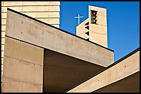 Angular shapes of Cathedral of our Lady of the Angels. Los Angeles, California, USA ( color)