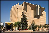 Ochre mantle of Cathedral of our Lady of the Angels. Los Angeles, California, USA (color)