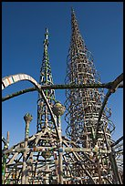 Whimsical Watts Towers. Watts, Los Angeles, California, USA ( color)