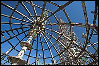 Tower seen from Gazebo, Watts Towers. Watts, Los Angeles, California, USA ( color)