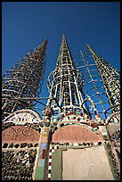 Wall and Towers, Watts Towers. Watts, Los Angeles, California, USA (color)