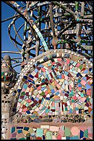 Moscaic and tower, Watts Towers. Watts, Los Angeles, California, USA
