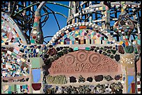 Detail of Watts Towers, built over the course of 33 years by Simon Rodia. Watts, Los Angeles, California, USA ( color)