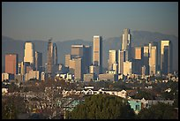 Downtown skyline, late afternoon. Los Angeles, California, USA ( color)
