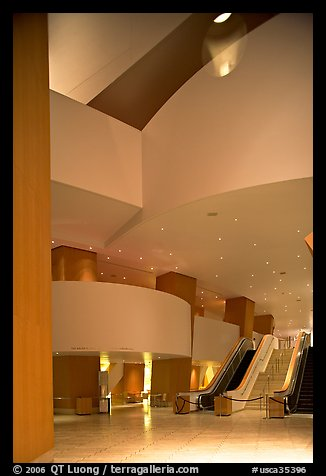 Walt Disney Concert Hall lobby. Los Angeles, California, USA (color)