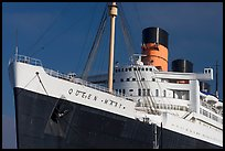 Queen Mary ocean liner. Long Beach, Los Angeles, California, USA (color)