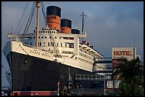 Queen Mary Hotel. Long Beach, Los Angeles, California, USA (color)