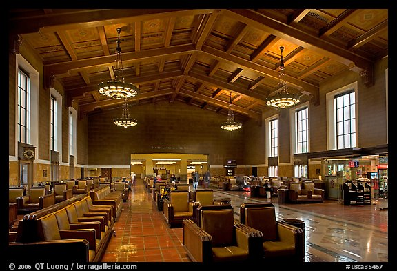 Picture photo waiting room in union station los angeles