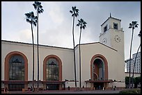 Union Station in mixed Art Deco and Mission styles. Los Angeles, California, USA ( color)