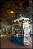 Box office of El Capitan Theatre. Hollywood, Los Angeles, California, USA (color)