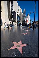 Star bearing the name of Antony Hopkins on the walk of fame. Hollywood, Los Angeles, California, USA (color)