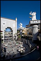 Hollywood and Highland shopping and entertainment complex. Hollywood, Los Angeles, California, USA (color)