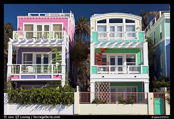 Picture photo colorful beach houses santa monica los for Houses to buy in los angeles