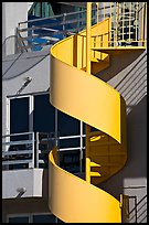 Detail of outdoor spiral staircase. Santa Monica, Los Angeles, California, USA ( color)