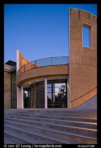 Cantor Center for Visual Arts at dusk. Stanford University, California, USA (color)