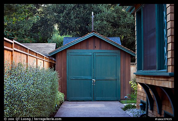 Garage where Hewlett-Packard started. Palo Alto,  California, USA (color)
