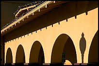 Arches, Burlingame train station. Burlingame,  California, USA (color)