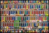 Set of Pez dispensers, Museum of Pez memorabilia. Burlingame,  California, USA ( color)