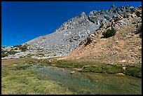 Stream and colorful rocks on Inconsolable Range. California, USA (color)
