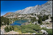 Lake and Inconsolable Range, John Muir Wilderness. California, USA ( color)