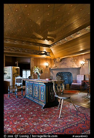 Vikingsholm interior, South Lake Tahoe, California. USA