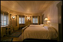 Bedroom, Vikingsholm castle, South Lake Tahoe, California. USA ( color)