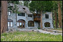 Vikingsholm castle facade, Emerald Bay,  Lake Tahoe, California. USA (color)