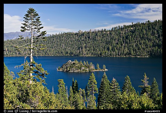 Fannette Island, Emerald Bay, California. USA (color)