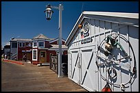 Historic wharf maintainance building. Santa Barbara, California, USA (color)