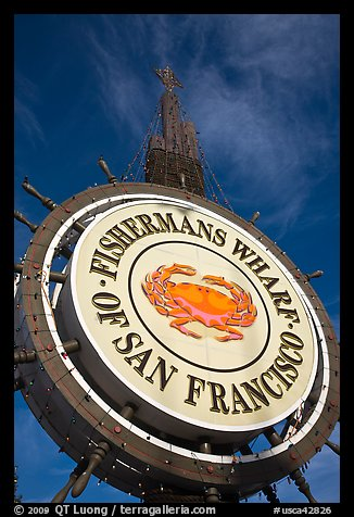 Fishermans Wharf sign against sky. San Francisco, California, USA (color)