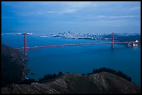 Golden Gate Bridge at dusk. San Francisco, California, USA ( color)