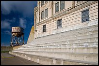 Recreation Yard and water tower, Alcatraz. San Francisco, California, USA (color)