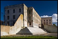 Cellhouse building, Alcatraz Penitentiary. San Francisco, California, USA (color)
