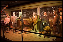 Wax figures of scientists with one outlier, Madame Tussauds. San Francisco, California, USA ( color)