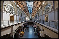 Interior, Ferry Building. San Francisco, California, USA (color)
