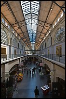 Main gallery inside Ferry Building. San Francisco, California, USA (color)